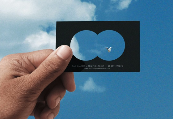 Binocular business card