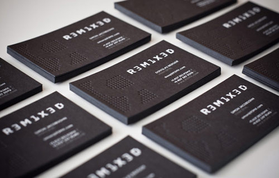 Remixed business cards
