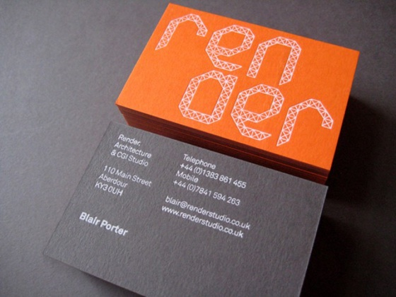 Render business cards