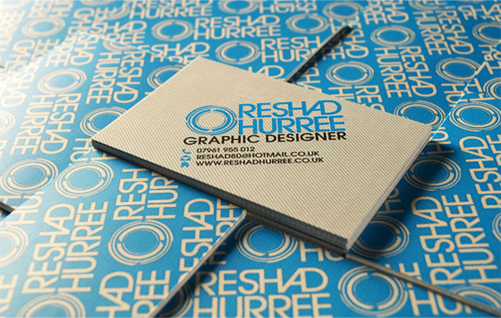 Business cards of Reshad Hurree
