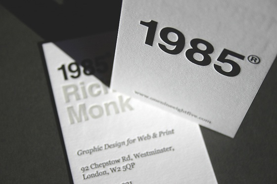 Richard Monk's business card