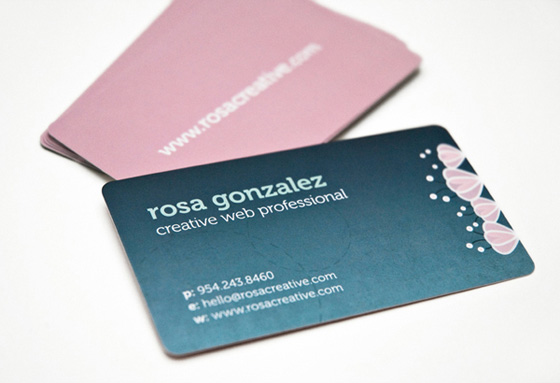 Business cards of Rosa Gonzalez