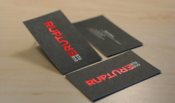 Rupture Studio business cards
