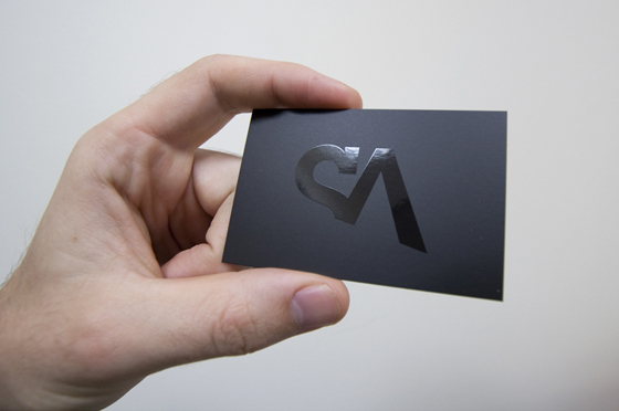 Shiny SA Design business card