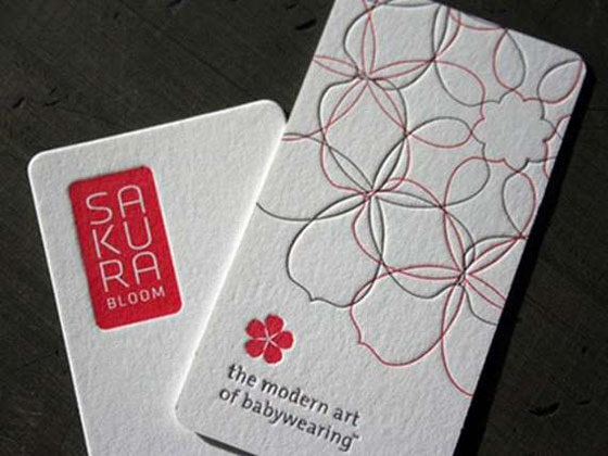 Letterpress cards from Sakura