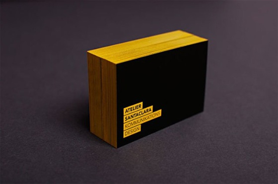The business cards of Atelier Santaclara