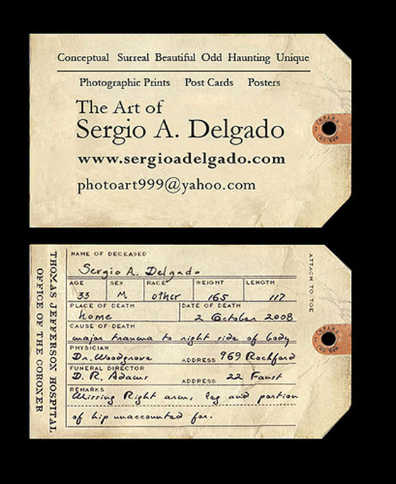 Old looking business cards