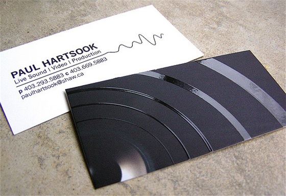 Cards with soundwaves