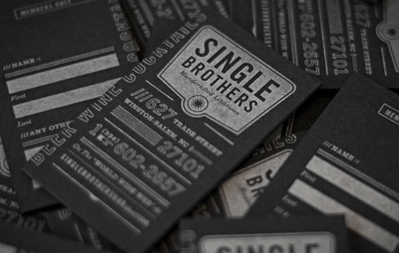 Single Brothers business card