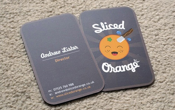 Sliced business cards