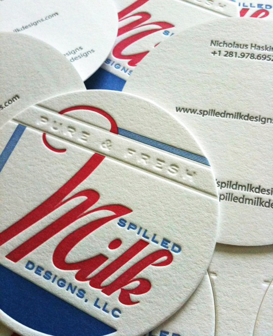 Spilled Milk business card