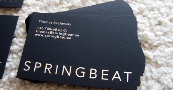 Springbeat business card