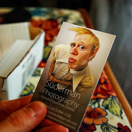 The funny Suderman business card