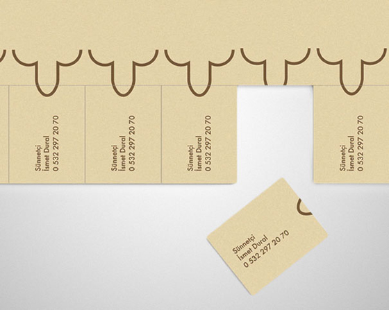 Tear-off business cards