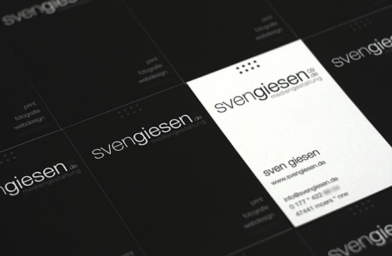 Business card of Sven Giesen