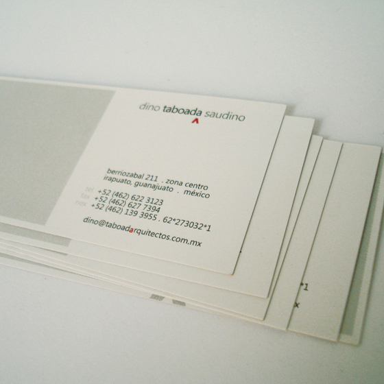 Architect agency business card