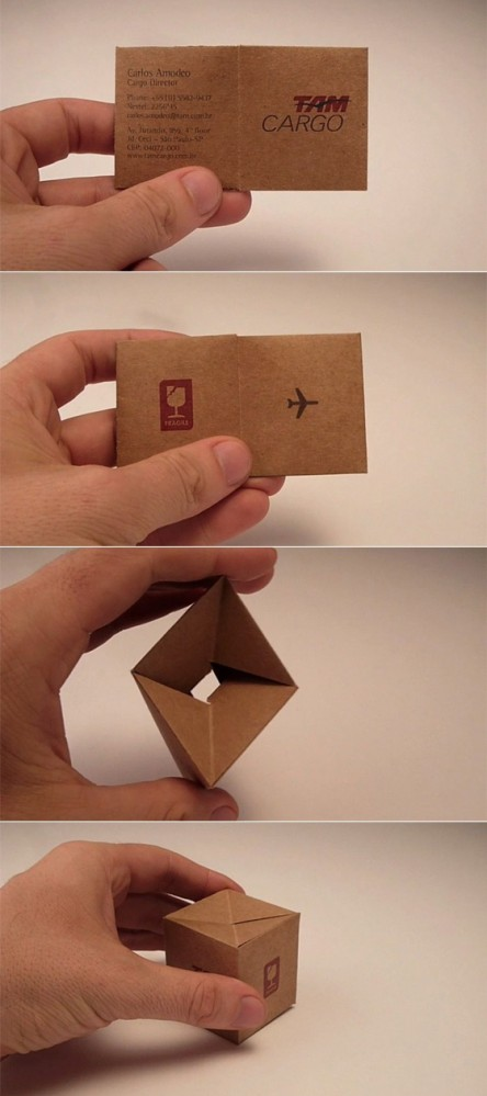 Box in a business card