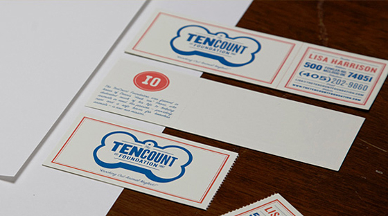 TenCount Foundation business cards