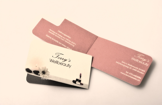 Terry's Wellbeauty business card