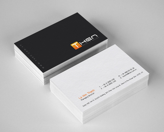 Then business cards