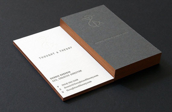 Thought and Theory business cards