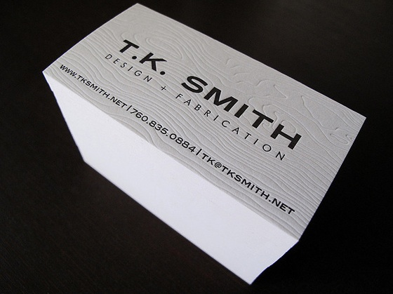 T.K. Smith business cards