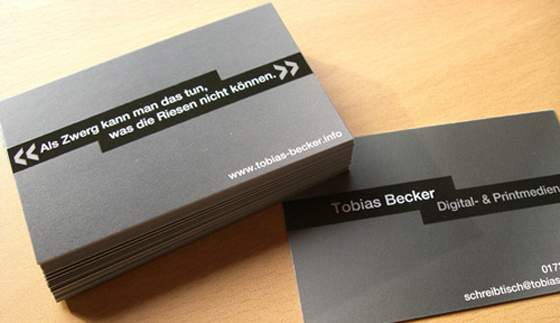 Business card of Tobias Becker