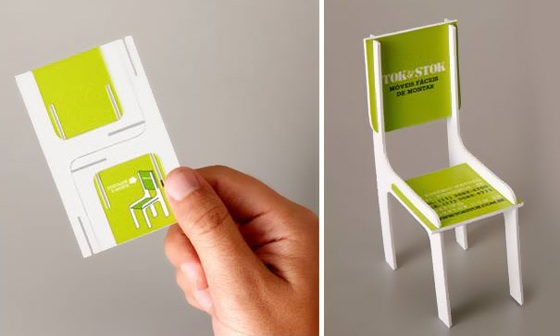 Foldable business cards