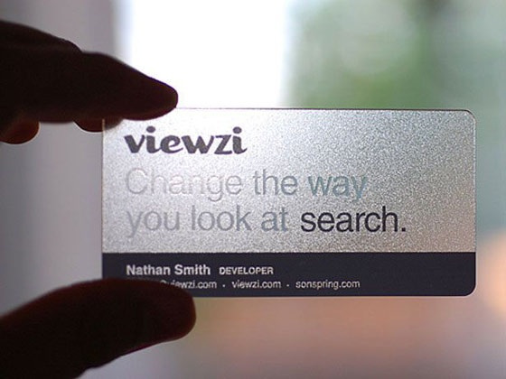 Transparent Viewzi card