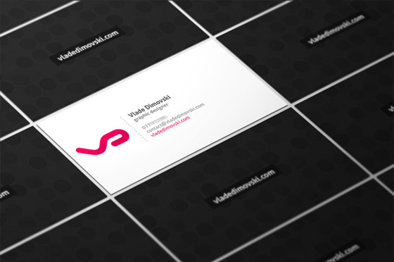 Business cards of Vlade Dimovski
