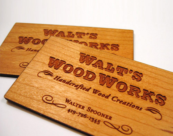 Walt Wood Works business card