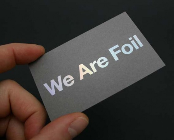 We are foil business cards