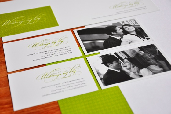 Weddings by Lily business card