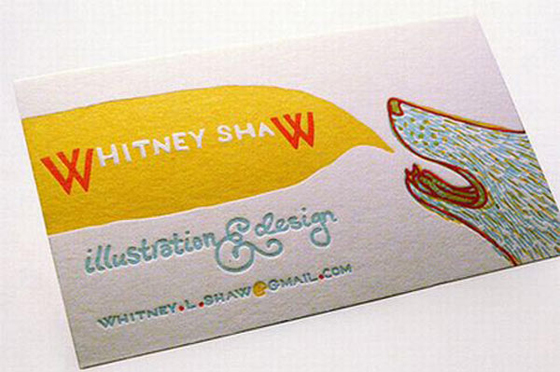 Business card of Whitney Shaw