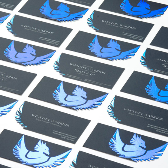 Winston Warrior business cards