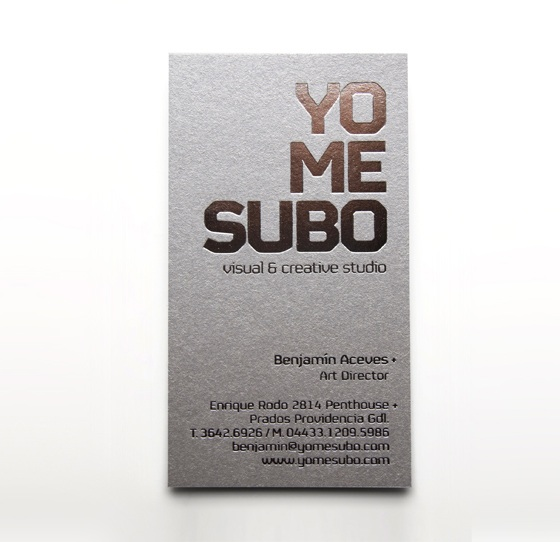 Yo Me Subo business card