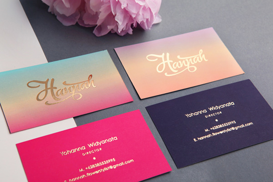 feminine business card
