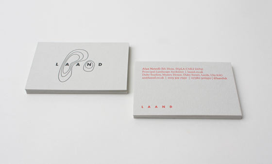 Laand business cards inspiration cardfaves practical business card colourmoves