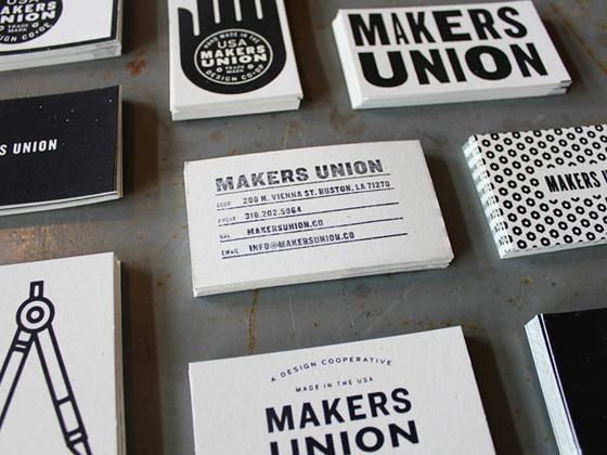 Makers union business cards inspiration cardfaves screenprinted business card colourmoves