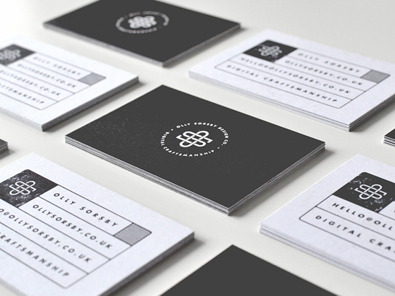 stamp business card
