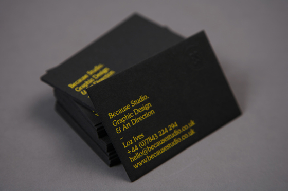 Because Studio business cards