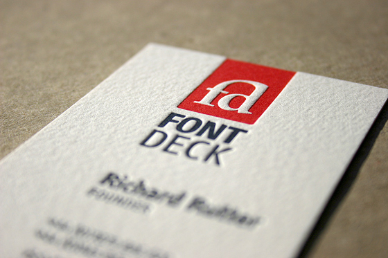 Font Deck business cards