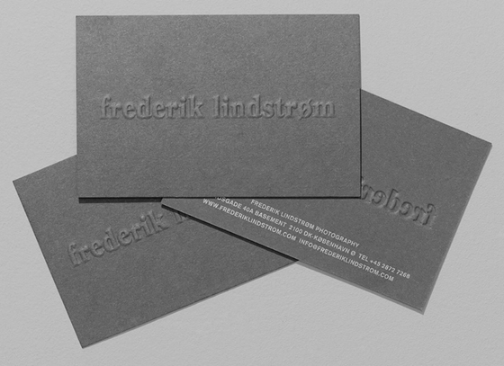 Embossed business cards inspiration cardfaves business card of frederik lindstrm reheart Gallery