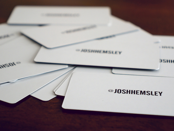 Josh Hemsley business cards