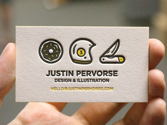 Justin Pervorse business card