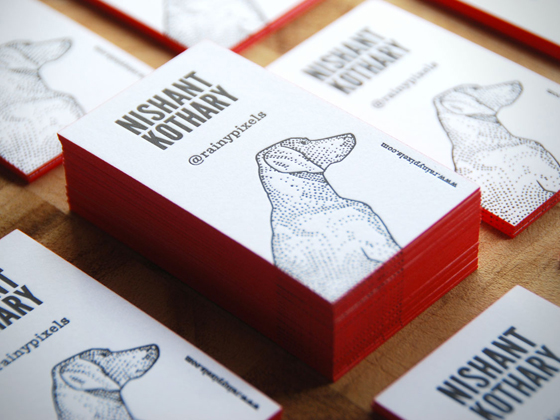 Business cards of Nishant Kothary
