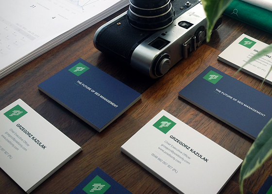 Business cards of Positionly