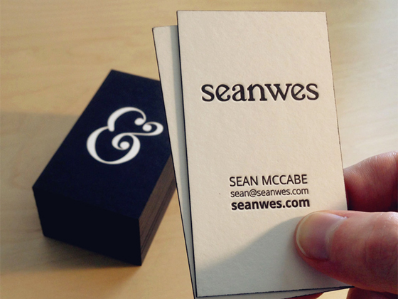 Business cards of Sean McCabe