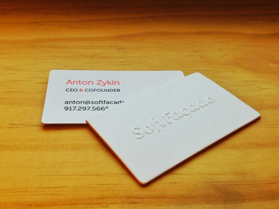 SoftFacade business card