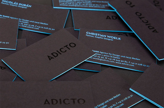 Colored Edge Business Cards Inspiration Cardfaves